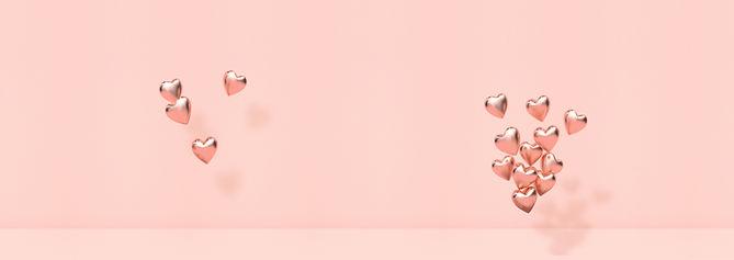 ピンクの3Dハート