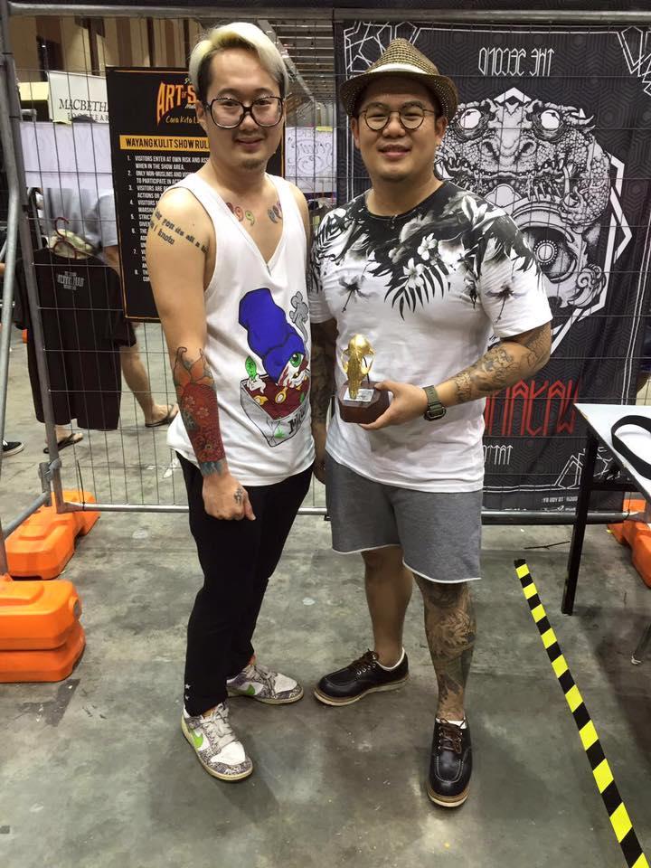 Yang Lee & Tattoo Model