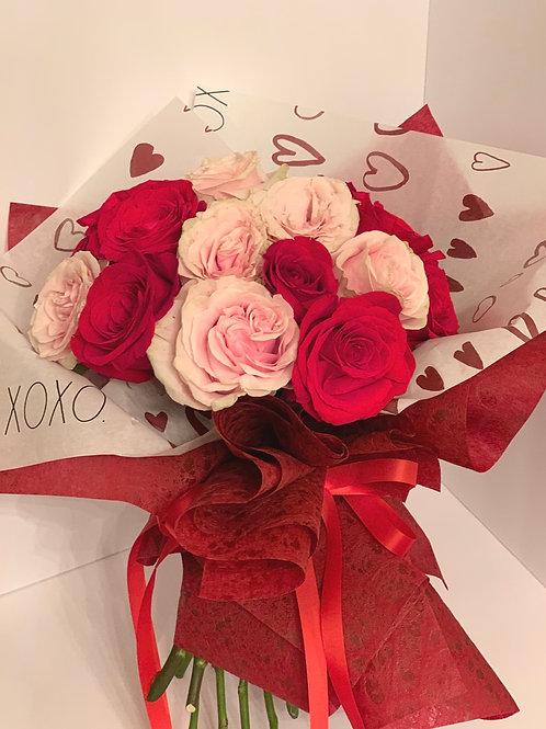2 Dozen Wrapped Roses