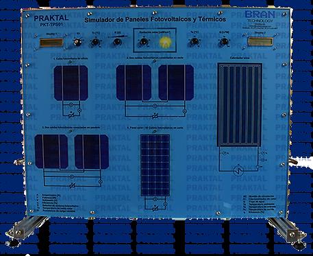 Entrenador de Simulador de Paneles Fotovoltaicos y Térmicos