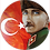 "Thumbnail: ""Atatürk in Ewigkeit"" - Acrylglas Druck auf Alu-Dibond - 50 cm Durchmesser"