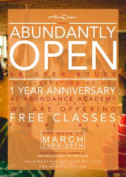Abundantly Open Flyer