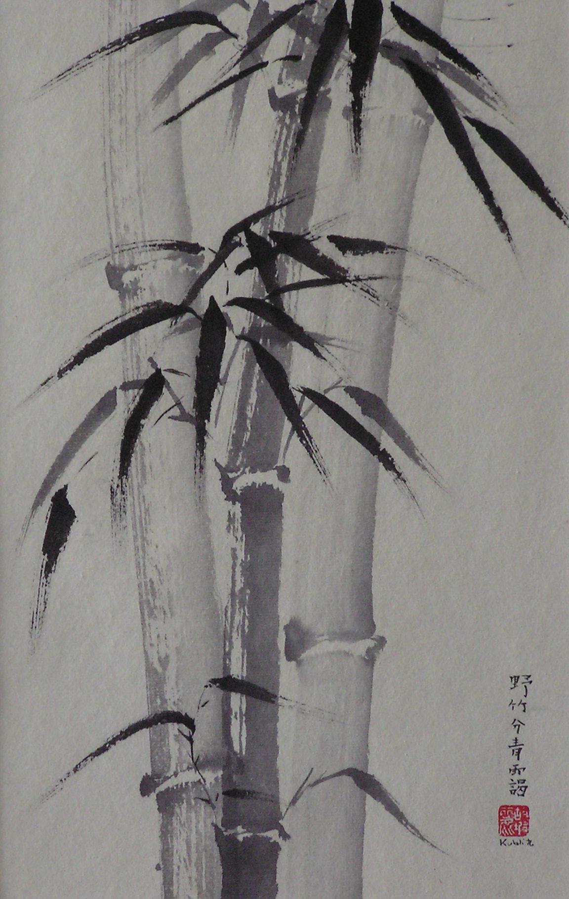 bambous sauvage 20x31cm