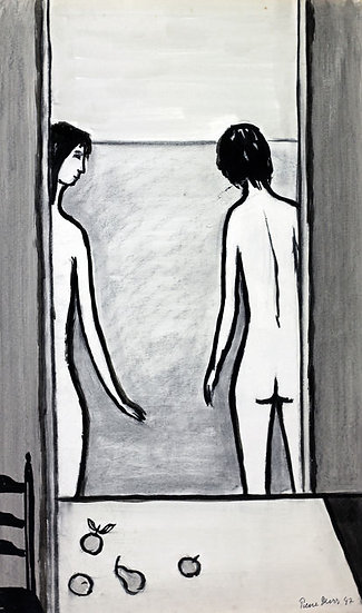 Buy art Buy art online Pierre Devos Original work Gouache Signed Affordable Europe Belgium Brussels Ghent