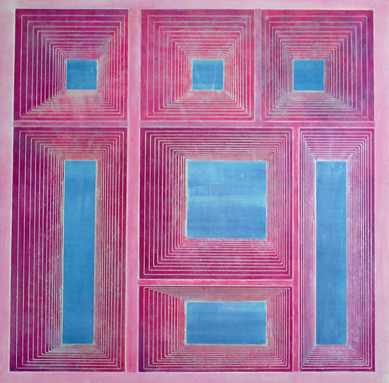 Buy art Buy art online Marcel Maeyer Lithograph Signed Abstract Geometric Affordable Europe Belgium Brussels Ghent
