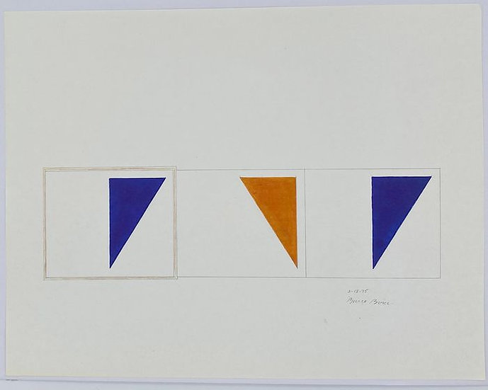 Buy art Buy art online Bruce Boice Original work on paper Abstract Signed Dated Affordable Europe Belgium Brussels Ghent