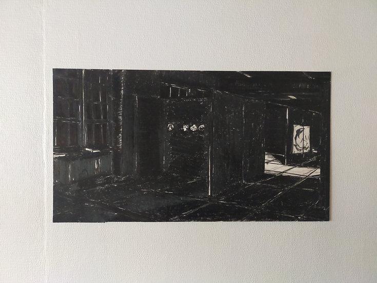 Buy art Buy art online Els De Roo Original drawing on cardboard Signed Affordable Europe Belgium Brussels Ghent