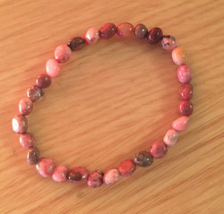 Bracelet grains de rhodochrosite - 8