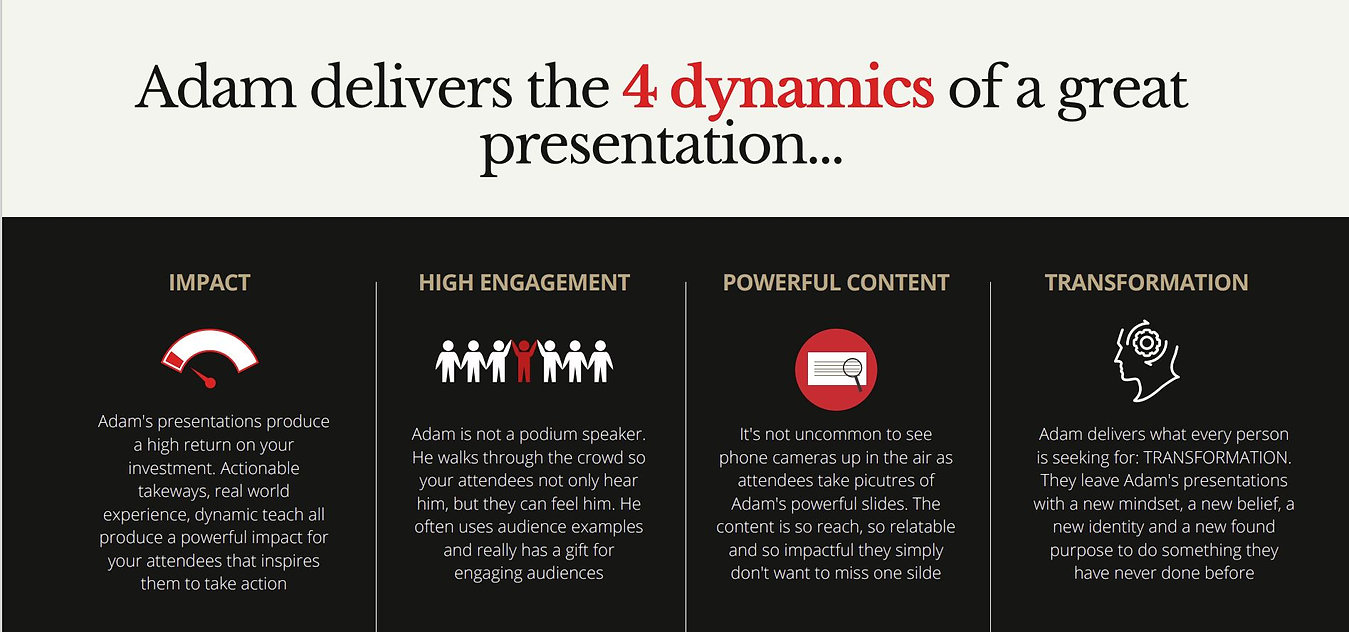 Adams 4 dynamics of a great presentation