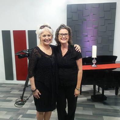 Avec Chantal Pary.