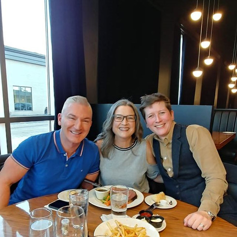 Avec Sylvain Charron et Dr Valérie Brousseau