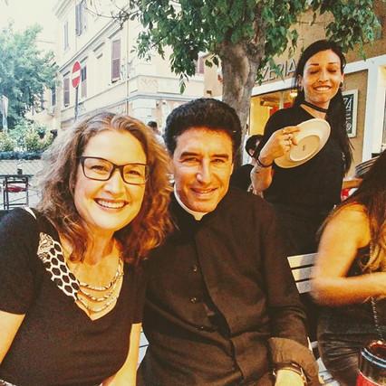 Avec le père Michel Marie Zanotti Sorkine.