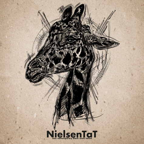 Tattoo-Nielsen-Tat-Animals-Sketch-Giraff