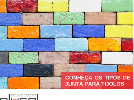 Conheça os tipos de junta para tijolos