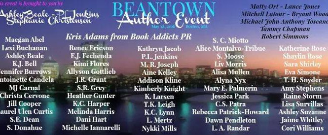 Who else can't wait for the Beantown Author Event?!?! I'll be there!