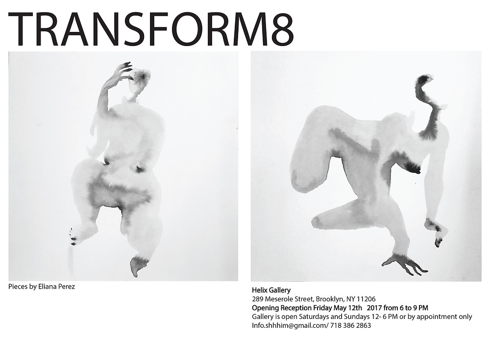 "Invitation of the collective show ""Transform8"""