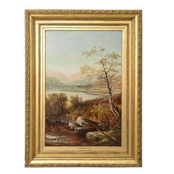 Oil Painting Titled Loch Tyt N. B. Scotl