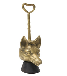 19th Century Cast Brass Fox-Form Door St