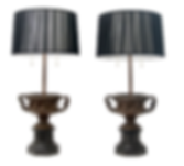 Pair of Grand Tour Bronze Table Lamps.pn