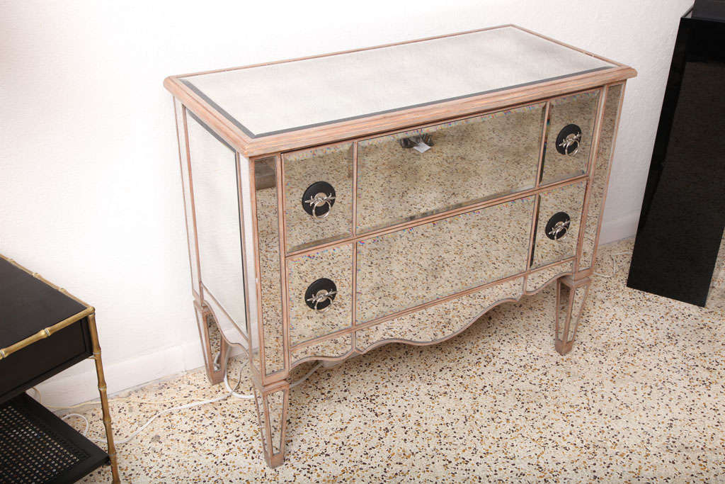 Mirrored Chest of Drawers, 1950s