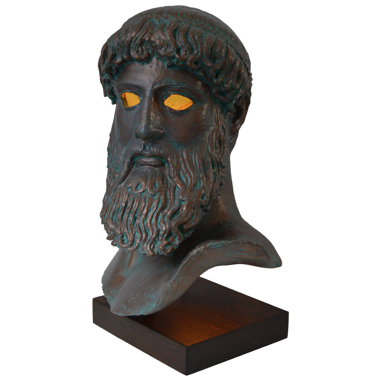 Illuminated Bust of Promethius