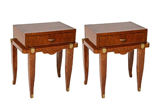 Pair of Art Deco Bedside Tables in Amboy