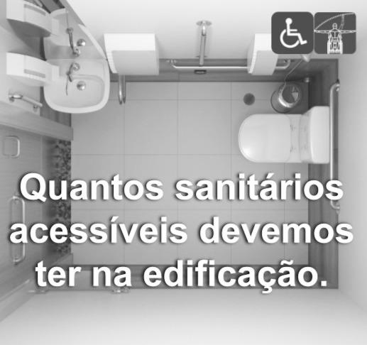 Quantos sanitários acessíveis devemos ter