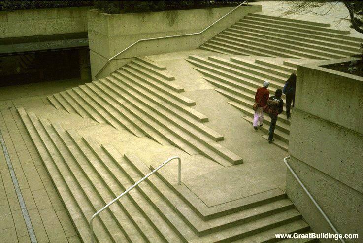 Escada em Vancouver - Arq. Arthur Erickson