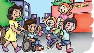 Escola 100% acessível proporciona desenvolvimento e integração à criança deficiente.