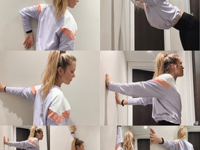 5 Easy Wall Stretches For Tight Chest & Shoulders!