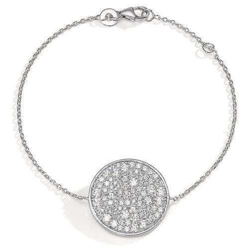 Armband Silber rhodiniert Zirkonia 16-18cm