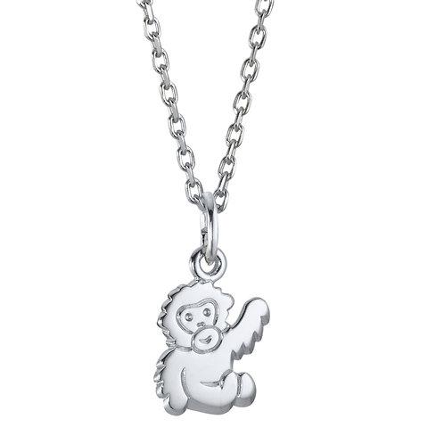 Halskette mit Anhänger Silber rhodiniert