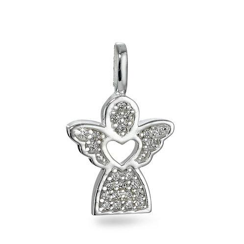 Anhänger Silber Zirkonia Engel