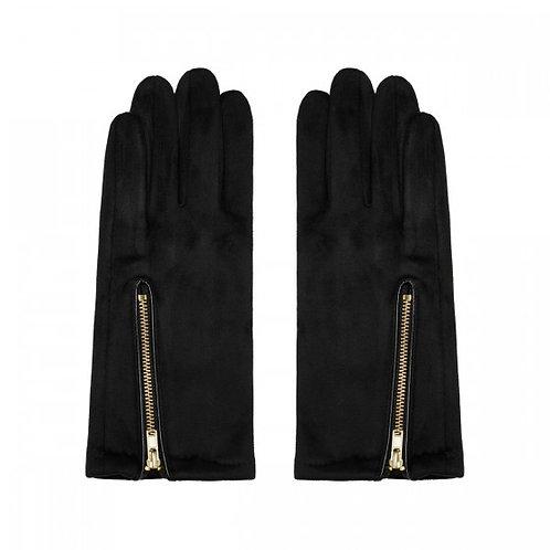 Elegante, weiche Handschuhe mit Reissverschluss Detail