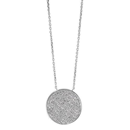 Collier Silber Zirkonia  40-45 cm verstellbar Ø20 mm