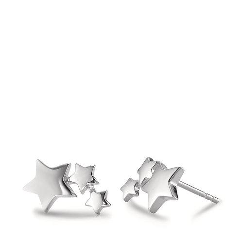 Ohrstecker Silber rhodiniert Sterne