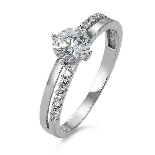Ring Weissgold 375 Zirkonias