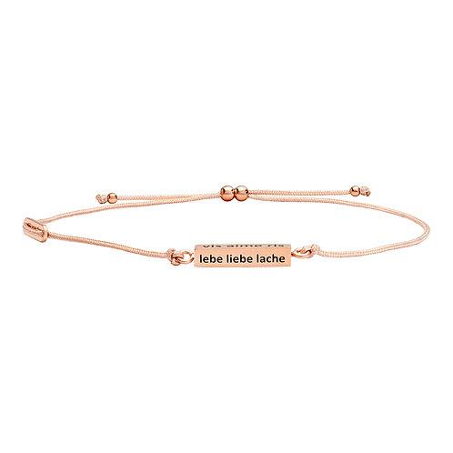 Armband Textil, Silber rosé vergoldet oder silber rhodiniert