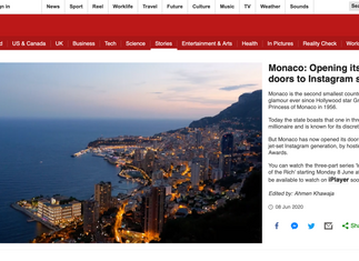 BBC NEWS: THE INFLUENCER EFFECT IN MONACO