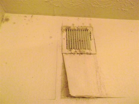 Mold on bathroom vent