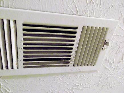Mold in bedroom vent