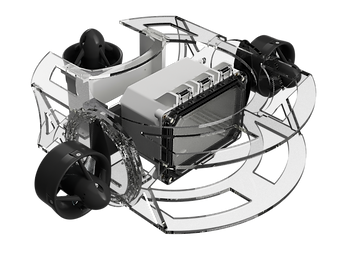 3D renderings of the ROV designed by Silicon Sharks