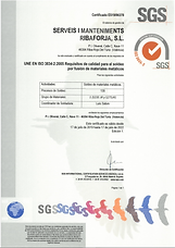 CERTIFICADO ISO 3834 SOLDADURA RIBAFORJA