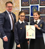 Y6 pupils with Mr JP Morrison, Director of Education for the Diocese of Westminster.