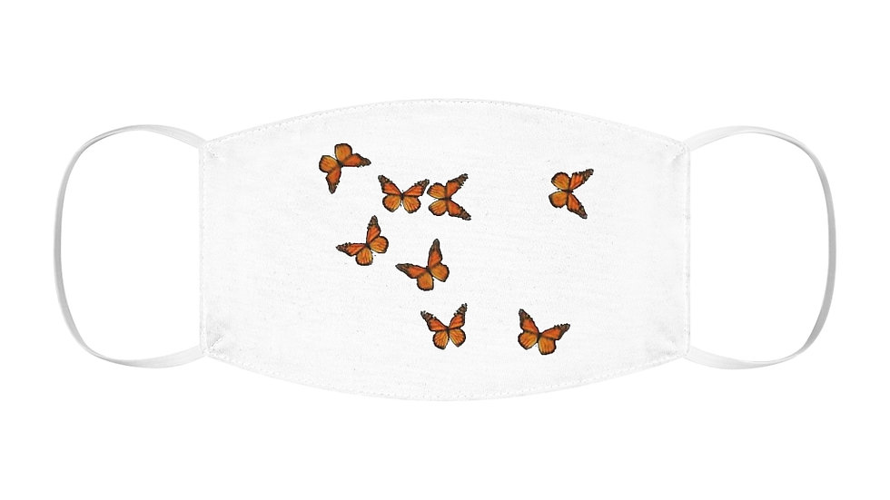 Marnarch Butterfly Snug-Fit Polyester Face Mask