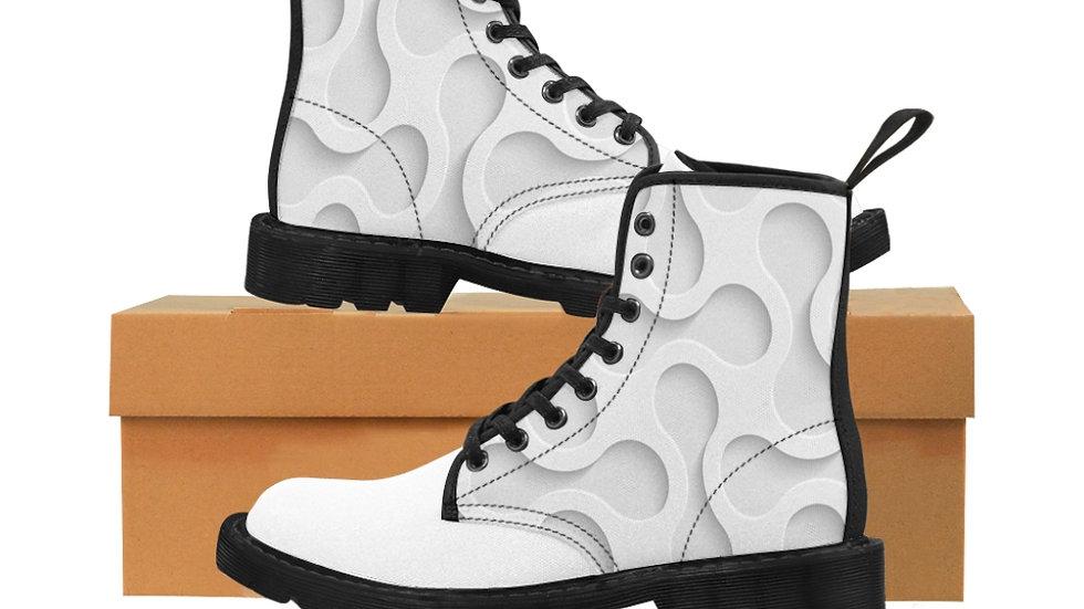 Y Arts White 3D Men's Canvas Boots