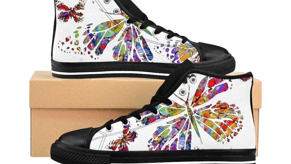 Multi Butterfly Women's High-top Sneakers