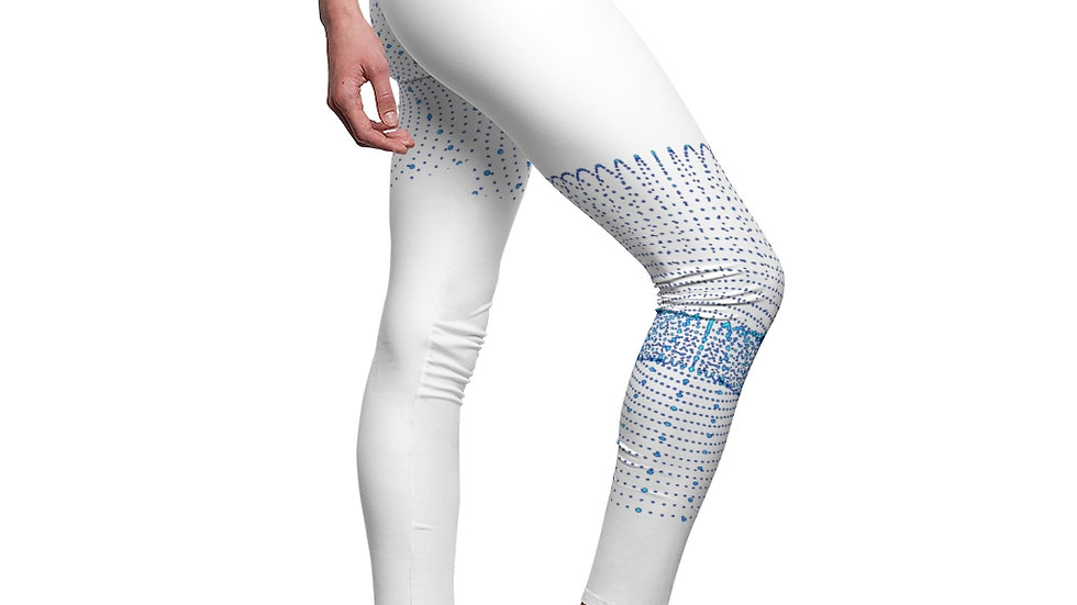 Blue Graphic Design Women's Cut & Sew Casual Leggings