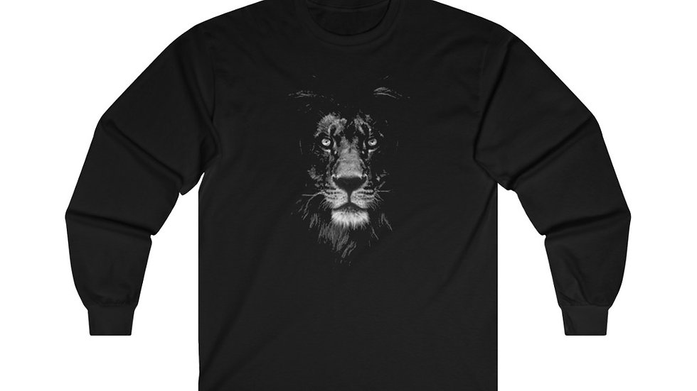 Lion Face #1 Ultra Cotton Long Sleeve Tee