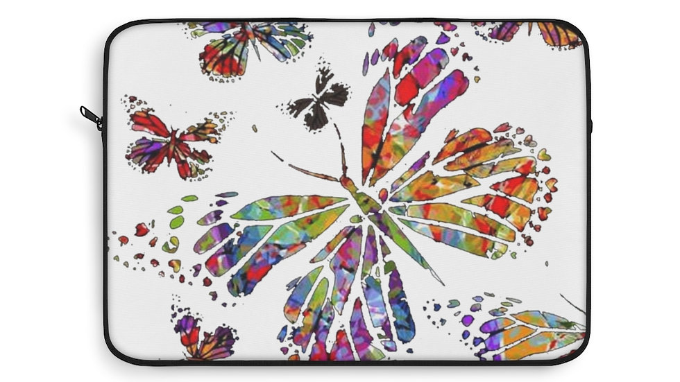 Multi Color Butterfly Laptop Sleeve